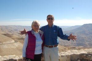 Dad and Mom in Jerusalem. (He's wearing a Standing With Hope Shirt!)