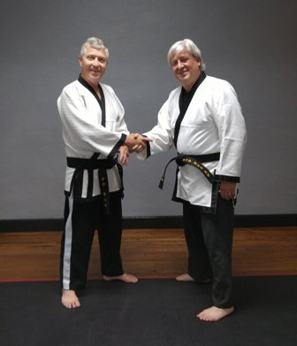 With Master Instructor Sangster.